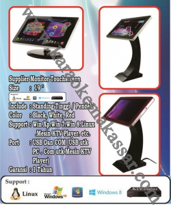 pemesanan karaoke Monitor Touch screen di makassar